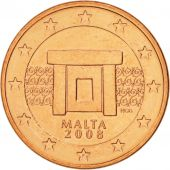 Malte, 5 Euro Cent, 2008, SPL, Copper Plated Steel, KM:127