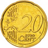 Malta, 20 Euro Cent, 2008, MS(64), Brass, KM:129
