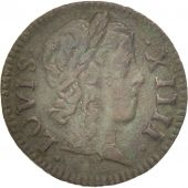 France, Louis XIV, Denier Tournois, 1648, Paris, TTB+, Cuivre, CGKL:552