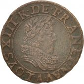 France, Louis XIII, Double tournois, 1628, Paris, TTB+, CGKL:394