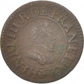 France, Henri III, Denier Tournois, 1578, Paris, TB, Cuivre, CGKL:90