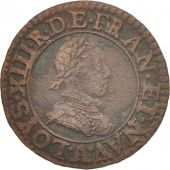 France, Louis XIII, Double tournois, 1620/17, Paris, TTB, Cuivre, CGKL:388