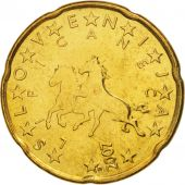 Slovenia, 20 Euro Cent, 2007, MS(64), Brass, KM:72