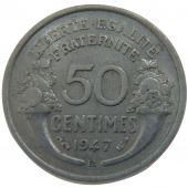 IV th Republic, 50 Centimes Morlon Aluminium