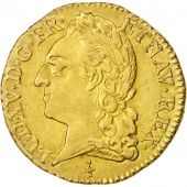 France, Louis XV, Louis dor à la vieille tête, 1774, Paris, AU(50-53), Gold