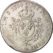 France, Louis XVI, Écu aux branches dolivier, 1784, Paris, EF(40-45), Faulty