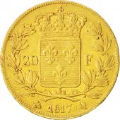 France, Louis XVIII, 20 Francs, 1819, Perpignan, EF(40-45), Gold, KM:712.7