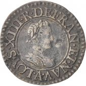 France, Louis XIII, Denier tournois, 1617, Paris, TTB, Cuivre, CGKL:400