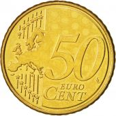 Cyprus, 50 Euro Cent, 2008, MS(64), Brass, KM:83