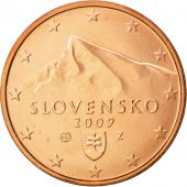Slovaquie, 5 Euro Cent, 2009, SPL+, Copper Plated Steel, KM:97