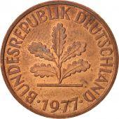 République fédérale allemande, 2 Pfennig, 1977, Stuttgart, SUP, KM:106a