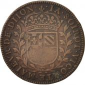 France, Token, Ville de Dijon, Jacques Soirot, 1645, VF(20-25), Copper