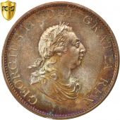 Great Britain, George III, 1/2 Penny, 1799, PCGS, MS66BN, MS(65-70), Copper