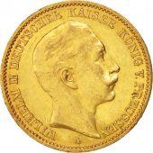 German States, PRUSSIA, Wilhelm II, 20 Mark, 1912, Berlin, AU(50-53), Gold