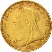 Australie, Victoria, Sovereign, 1893, Sydney, TTB, Or, KM:13