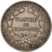 FRENCH INDO-CHINA, Piastre, 1906, Paris, TTB, Argent, KM:5a.1