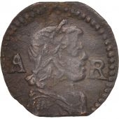 Spain, CATALONIA, Louis XIV, Ardite, 1648, Barcelona, VF(30-35), Copper, KM:100