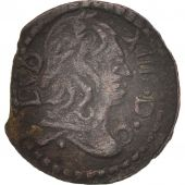 Spain, CATALONIA, Louis XIV, Dinero, 1643, Barcelona, EF(40-45), Copper, KM:7