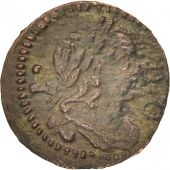 Spain, CATALONIA, Louis XIV, Dinero, 1648, Barcelona, VF(30-35), Copper, KM:7