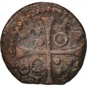 Spain, CATALONIA, Louis XIII, Dinero, 1642, Tarrega, VF(20-25), Copper, KM:79