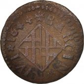 Spain, CATALONIA, Louis XIV, Ardite, 1644, Barcelona, VF(20-25), Copper, KM:100