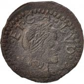 Spain, CATALONIA, Louis XIII, Seiseno, 1642, Bellpuig, VF(30-35), Copper, KM:81