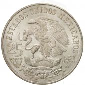 Mexico, 25 Pesos, 1968, Mexico City, MS(64), Silver, KM:479.1