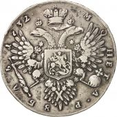 Russie, Anna, Rouble, 1732, Moscow, TTB, Argent, KM:192.1