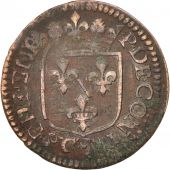 FRENCH STATES, CHATEAU-RENAUD, Liard, 1613, VF(20-25), Copper, KM:26.1