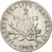 France, Semeuse, 2 Francs, 1902, Paris, TB, Argent, KM:845.1