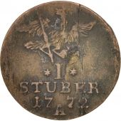 German States, EAST FRIESLAND, Friedrich II, Stuber, 1772, Berlin, VF(20-25)