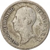 Pays-Bas, William II, 10 Cents, 1849, TB, Argent, KM:75