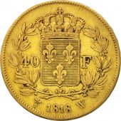 France, Louis XVIII, 40 Francs, 1818, Lille, TTB, Or, Gadoury:1092