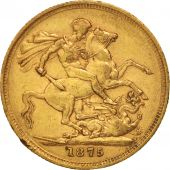 Australie, Victoria, Sovereign, 1875, Melbourne, TTB, Or, KM:7
