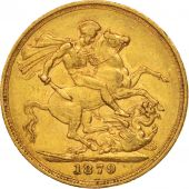 Australie, Victoria, Sovereign, 1879, Melbourne, TTB, Or, KM:7