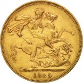 Australie, Victoria, Sovereign, 1883, Melbourne, TTB+, Or, KM:7