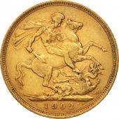 Australie, Edward VII, Sovereign, 1902, Melbourne, TTB, Or, KM:15