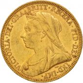 Australie, Victoria, Sovereign, 1894, Melbourne, TTB+, Or, KM:13