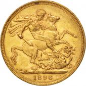 Australie, Victoria, Sovereign, 1896, Melbourne, TTB+, Or, KM:13