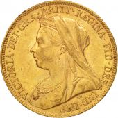 Grande-Bretagne, Victoria, Sovereign, 1898, TTB+, Or, KM:785
