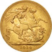 Great Britain, George V, Sovereign, 1914, Perth, EF(40-45), Gold, KM:820