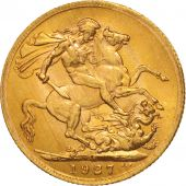 South Africa, George V, Sovereign, 1927, MS(60-62), Gold, KM:21