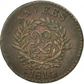 FRENCH STATES, ANTWERP, 5 Centimes, 1814, Anvers, TTB, Inédit, Bronze, KM:4.1