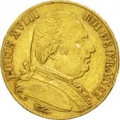 France, Louis XVIII, 20 Francs, 1815, Paris, EF(40-45), Gold