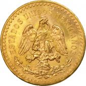 Mexico, 50 Pesos, 1945, Mexico City, MS(63), Gold, KM:481