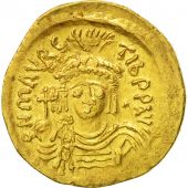 Maurice Tiberius, Solidus, Constantinople, AU(50-53), Gold, Sear:481