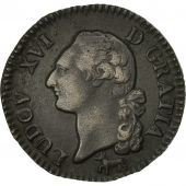 France, Louis XVI, Sol, 1782, Orléans, AU(50-53), Copper, KM:578.14