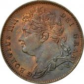 Great Britain, George IV, Farthing, 1821, MS(64), Copper, KM:677