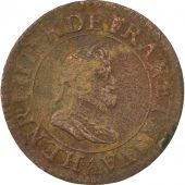 France, Henri IV, Double Tournois, 1600, Paris, TB+, Cuivre, CGKL:222