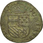 Pays-Bas espagnols, Flandre, Philippe II, Liard, 1590, Bruges, TB, Cuivre